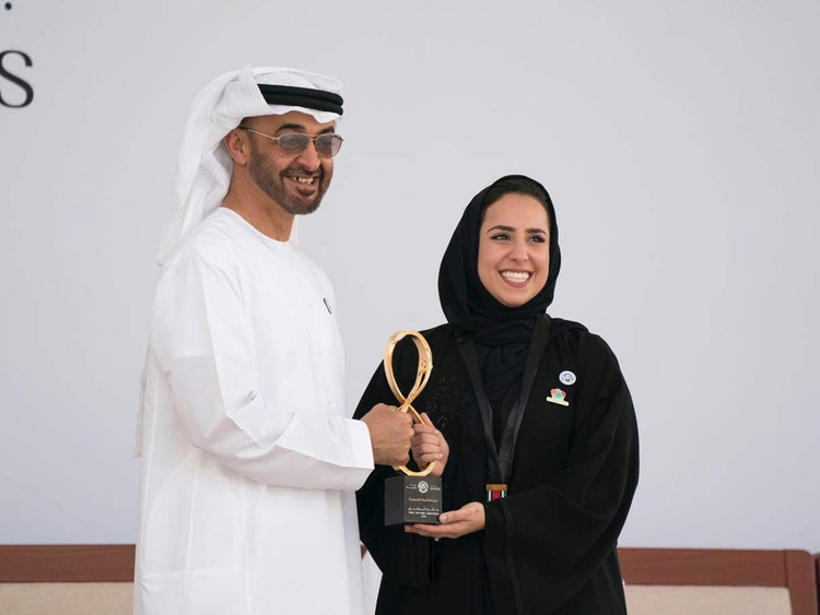 Farah Al Qaissieh with Shaikh Mohammad Bin Zayed 09122018 resources1 16a0853d77b large